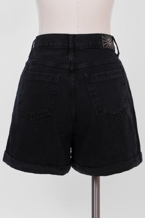 Shorts Mom Jeans Preto