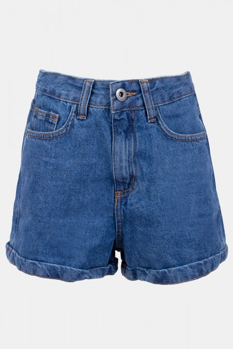 Shorts New Mom Jeans Azul