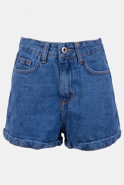 Shorts New Mom Jeans Azul