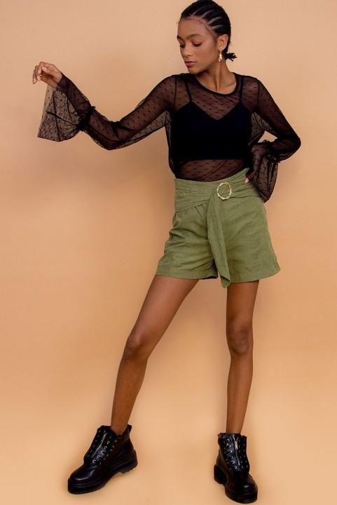 Shorts Oliva Stone com Fivela