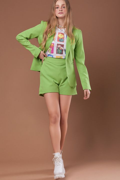 Shorts Spring Green Apple