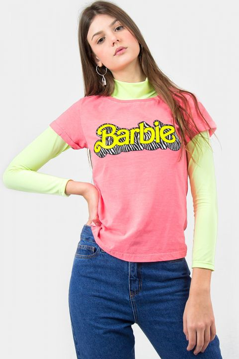 T-shirt Barbie Coral Logo