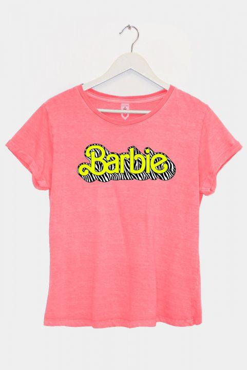 T-shirt Barbie Coral Logo