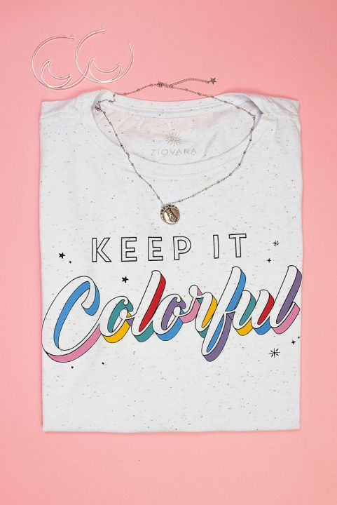 T-shirt Bolinhas Keep It Colorful