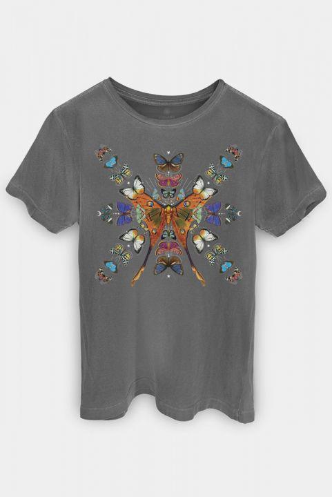 T-shirt Borboleta Caleidoscópio