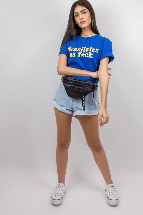 T-shirt Brasileirx as F*CK Unisex Azul
