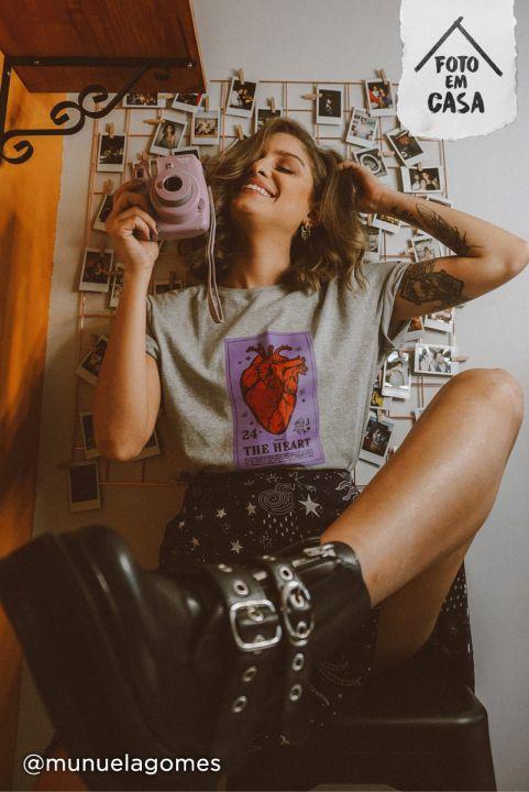 T-shirt Carta Coração THE HEART