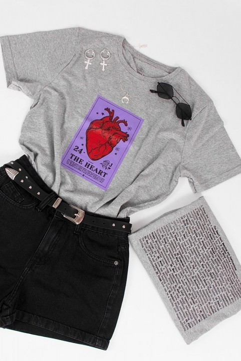 Camiseta T-shirt Carta Coração THE HEART