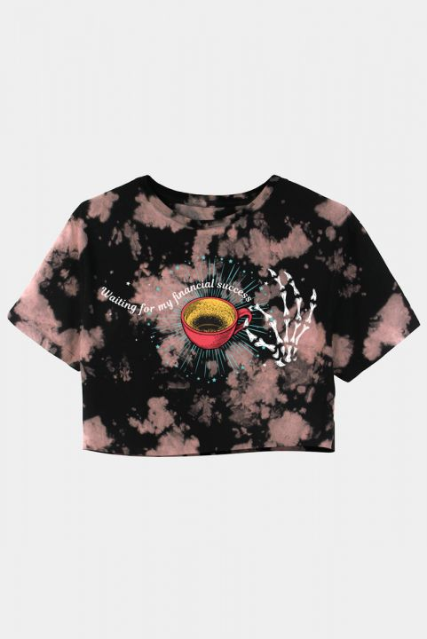 T-shirt Dark Coffee Tie Dye