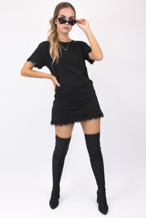 T-shirt Dress Com Renda