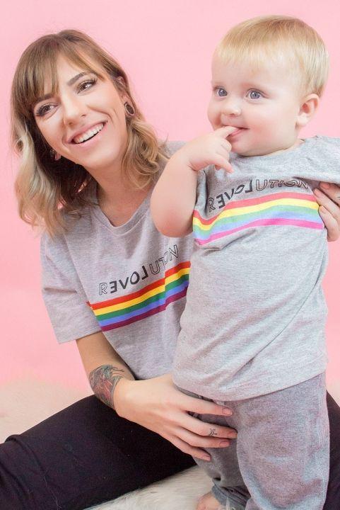 T-shirt Infantil Arco-Iris Revolution