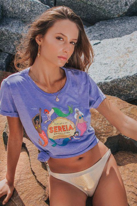 T-shirt Lilás Sereia Brasileira