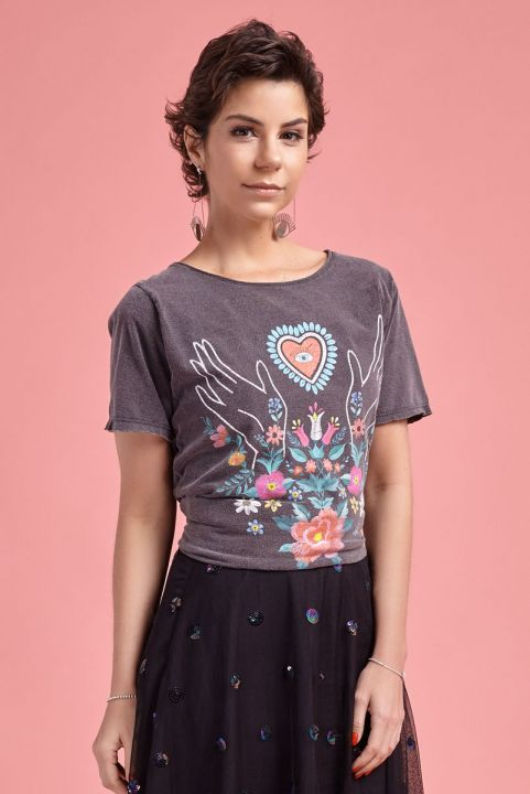 T-shirt Maos Floral Touch