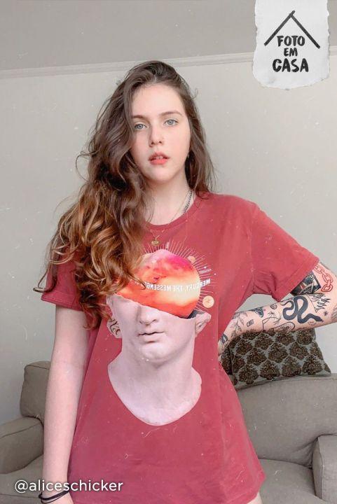 T-shirt Mercurio Estátua