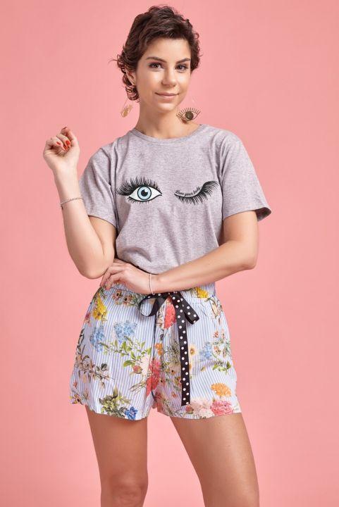 T-shirt Mescla Olhos
