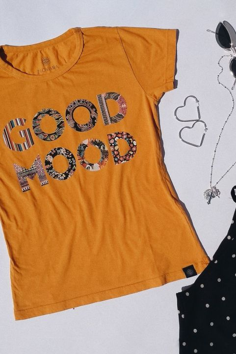T-shirt Mostarda GOOD MOOD