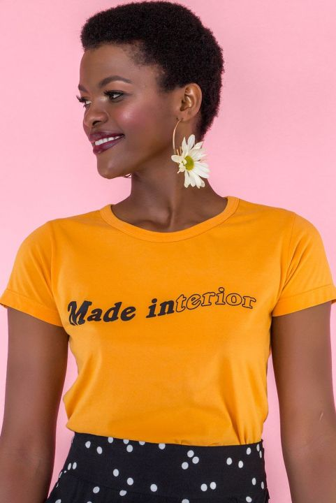 T-shirt Mostarda