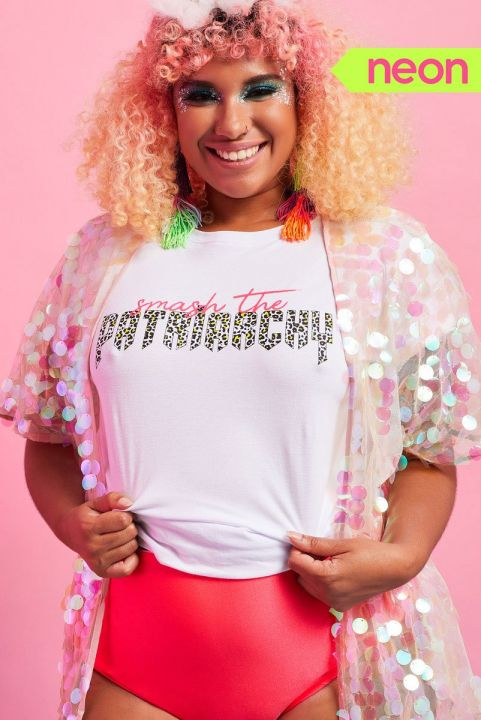 T-shirt Neon Smash The Patriarchy