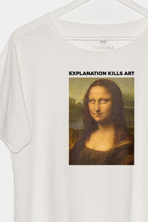 T-shirt Off Monalisa Roll Eyes