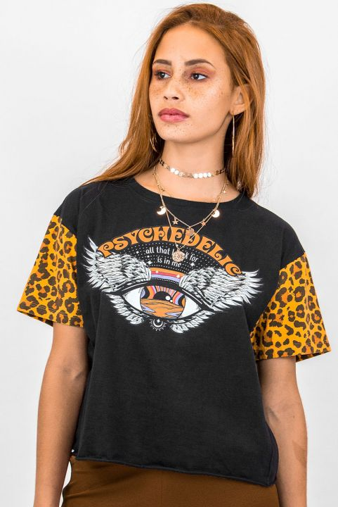 T-shirt Onça Olho Psychedelic