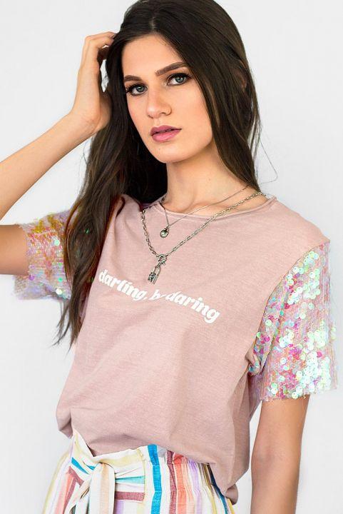 T-shirt Paetê
