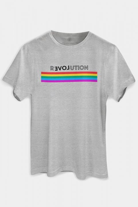 T-shirt PLUS Arco-Iris Revolution