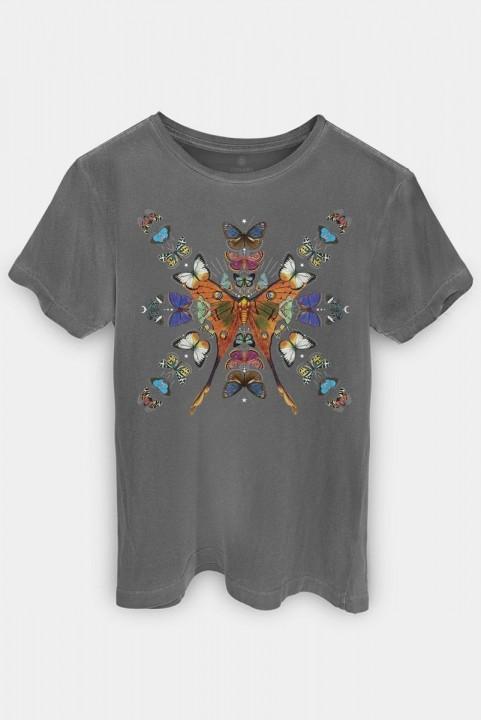 Camiseta T-shirt PLUS Borboleta Caleidoscópio