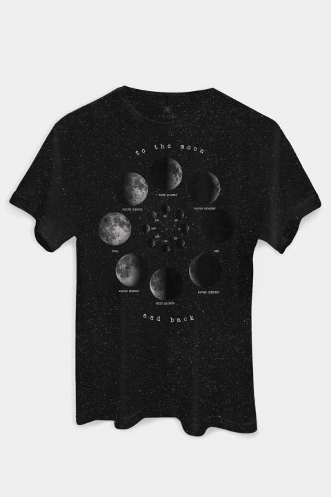 T-shirt PLUS Fases da Lua MOON