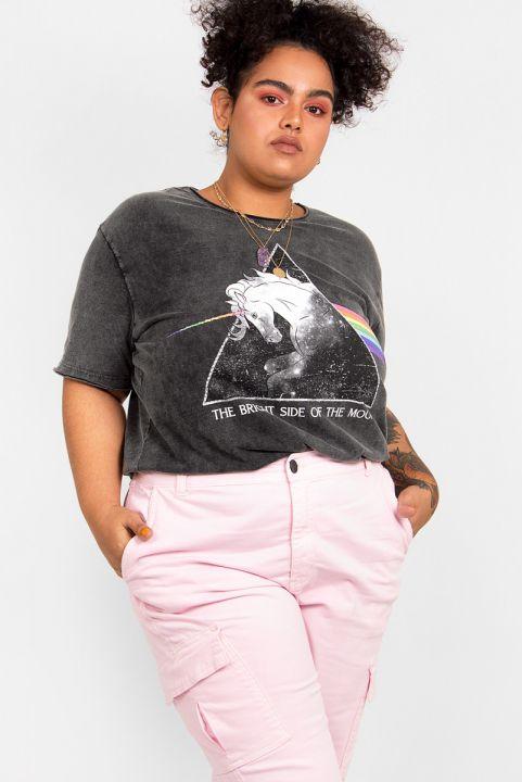 Camiseta T-shirt PLUS Bright Unicórnio - Marmorizada