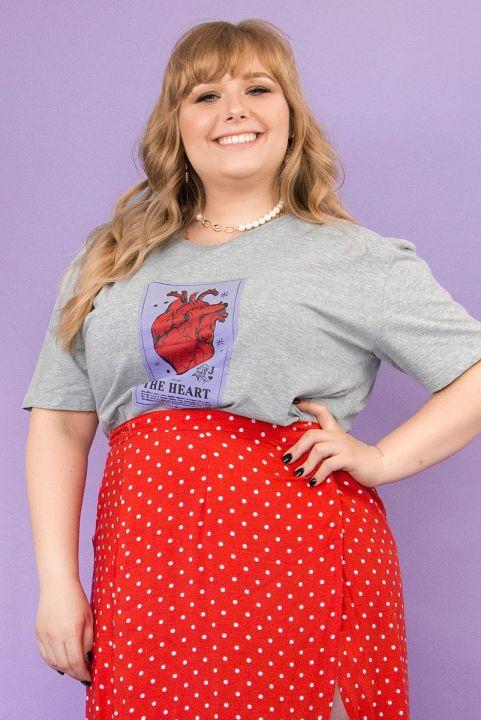 T-shirt PLUS Carta Coração THE HEART