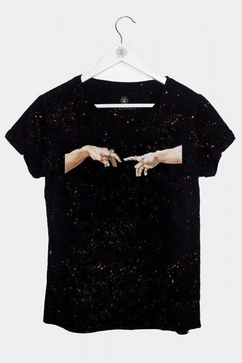 T-shirt PLUS Mão Michelangelo