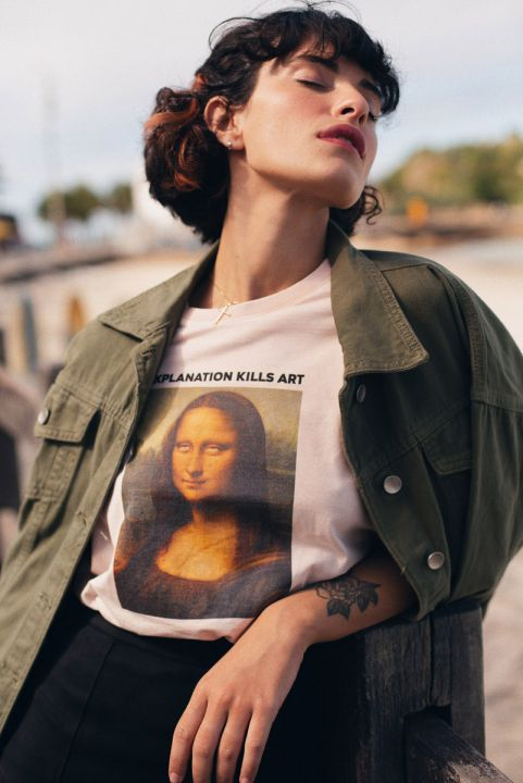 T-shirt PLUS Monalisa Roll Eyes