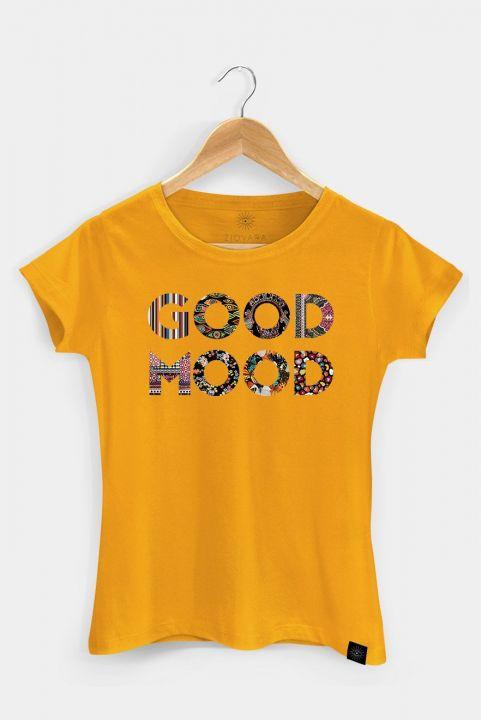 T-shirt PLUS Mostarda GOOD MOOD