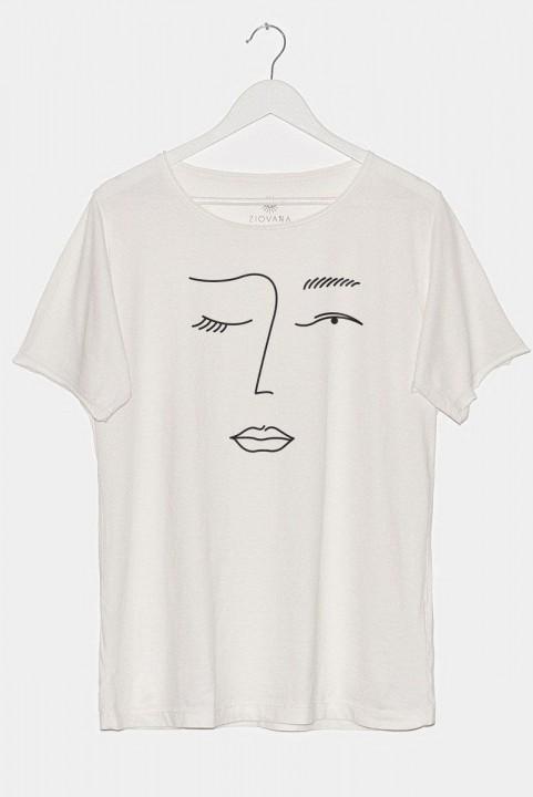 Camiseta T-shirt PLUS Off Esquisses Rosto