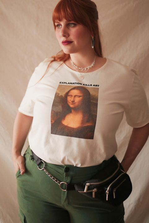 T-shirt PLUS Off Monalisa Roll Eyes