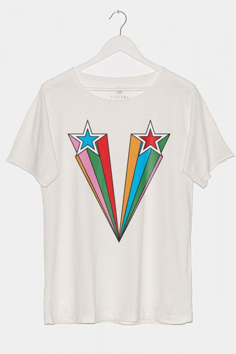 T-shirt PLUS Off-White Super Star Rainbow
