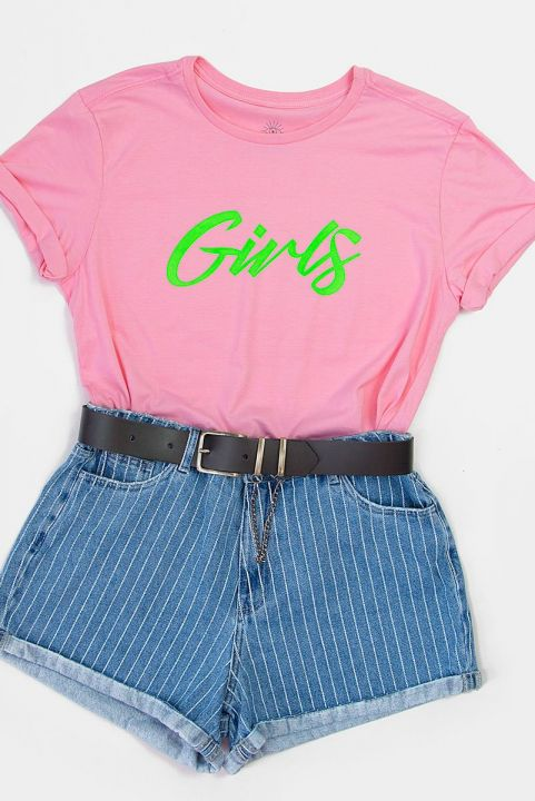 T-shirt PLUS Pink Neon GIRLS