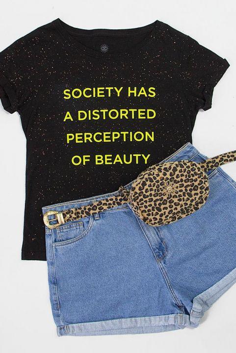 T-shirt PLUS Respingos Neon SOCIETY