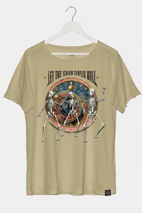 T-shirt PLUS Saturno Caveiras
