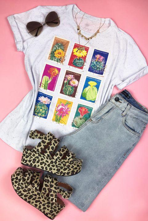 T-shirt PLUS Vintage Selo Cactus