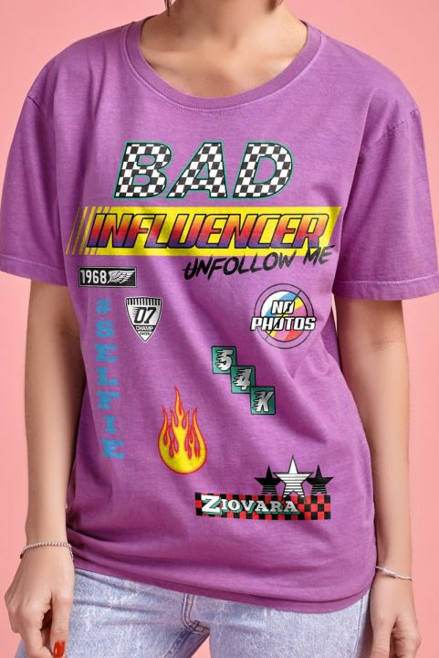 T-shirt Race BAD INFLUENCER