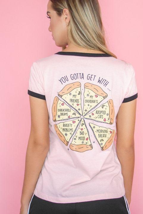 T-shirt Ringer PIZZA Slice Girls
