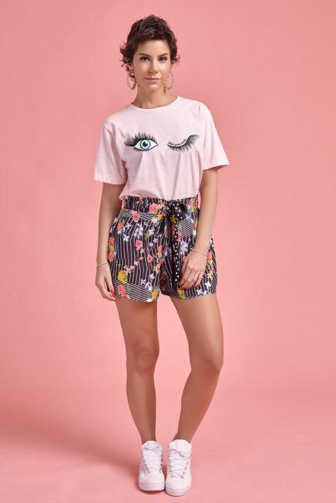 T-shirt Rosa Olhos