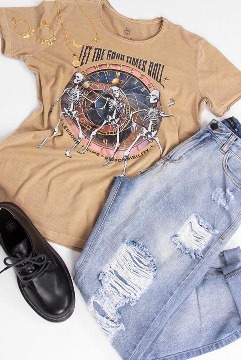 T-shirt Saturno Caveiras
