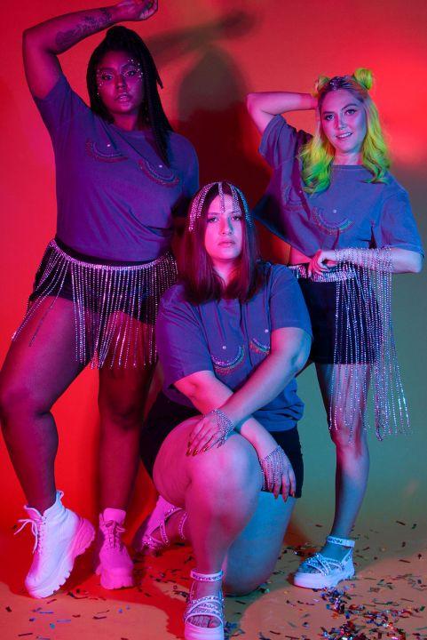 T-shirt Strass Rainbow Boobs