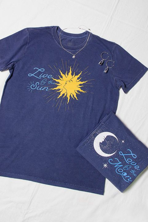 T-shirt Sun And Moon
