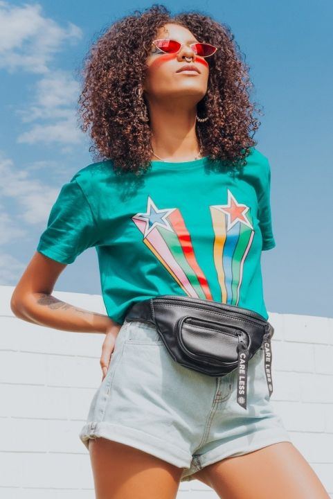 T-shirt Super Star Unisex Verde
