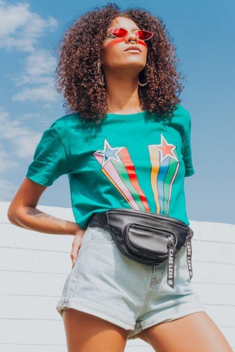 T-shirt Super Star Unisex Verde