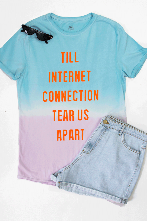 T-shirt Tie Dye Neon INTERNET