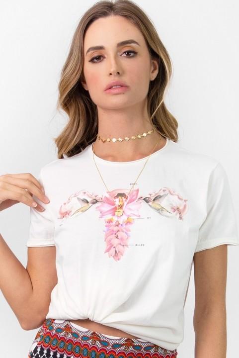Camiseta T-shirt Utero Femme - Off-White